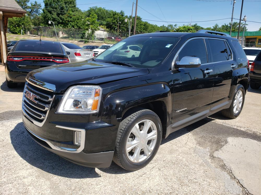 2016 black GMC Terrain SLT FWD (2GKFLPE34G6) with an 3.6L V6 DOHC 24V engine, 6A transmission, located at 7512 C F Hawn Fwy, Dallas, TX, 75217, (214) 391-9600, 32.719147, -96.691788 - Photo #0