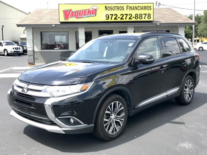 2016 Labrador Black /Black Mitsubishi Outlander SE 2WD ( JA4AD3A31G) with an 2.4L L4 DOHC 16V engine, CVT transmission, located at 301 S.first st, garland , TX, 75040, (972) 272-8878, 32.910500, -96.631042 - Photo #0