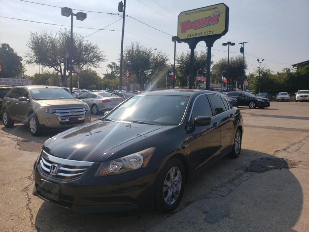 2012 Black /BLACK Honda Accord SE Sedan AT (1HGCP2F61CA) with an 2.4L L4 DOHC 16V engine, 5-Speed Automatic transmission, located at 7512 C F Hawn Fwy, Dallas, TX, 75217, (214) 391-9600, 32.719147, -96.691788 - Photo #0