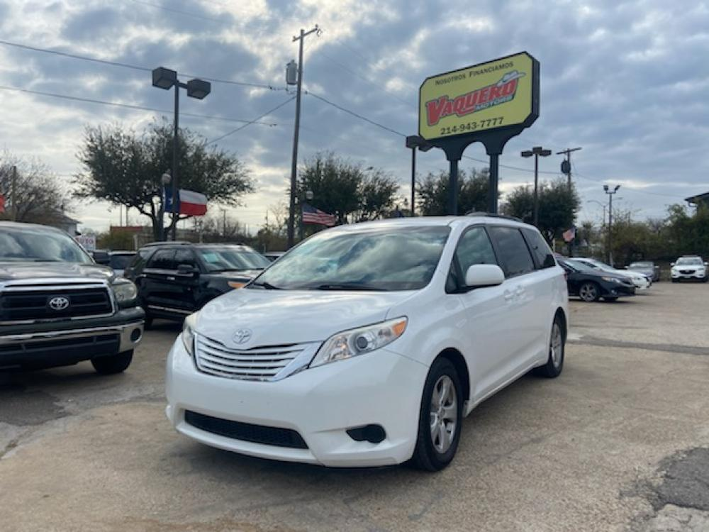 2015 Toyota Sienna LE FWD 8-Passenger V6 (5TDKK3DC4FS) with an 3.5L V6 EFI DOHC 24V engine, 5-Speed Automatic transmission, located at 7512 C F Hawn Fwy, Dallas, TX, 75217, (214) 391-9600, 32.719147, -96.691788 - Photo #0